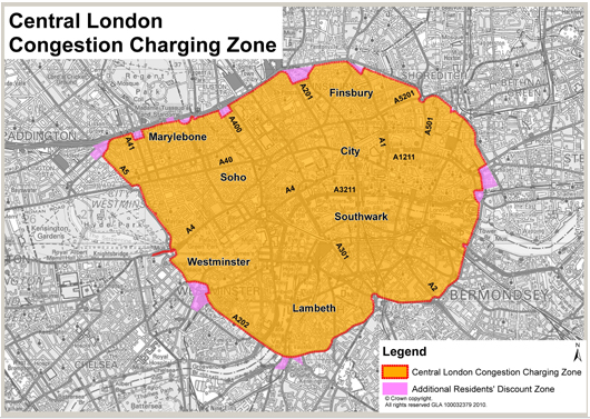 london congestion charge over christmas