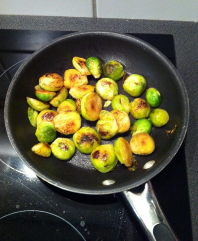 Perfectly browned brussels with a touch of butter