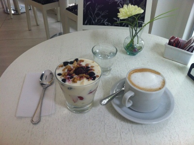 Capuccino and a Parfait