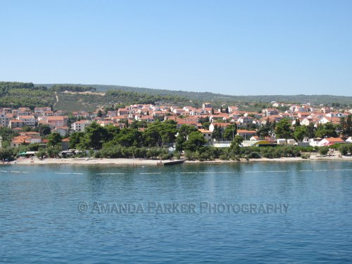 Arriving to the Island of Brac, Croatia